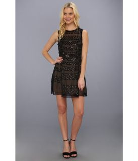 Nicole Miller Kamikaze Sequin Dress Womens Dress (Black)