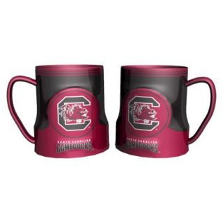 Boelter Brands NCAA 2 Pack South Carolina Gamecocks Game Time Coffee Mug   Red/