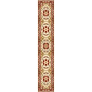 Lyndhurst Collection Traditional Ivory/red Runner (23 X 16)