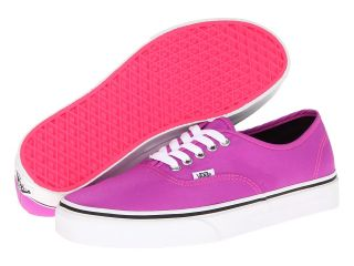 Vans Authentic Purple/True White) Skate Shoes (Pink)
