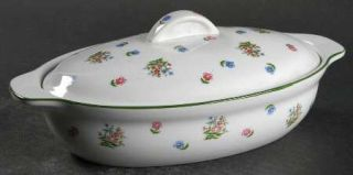 Sadek Petite Fleur 1 Pint Oval Covered Casserole, Fine China Dinnerware   Scatte
