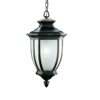 Kichler 9843RZ Outdoor Light, Transitional Pendant 1 Light Fixture Rubbed Bronze