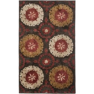 Safavieh Kashmir Traditional Brown Rug (5 X 8)