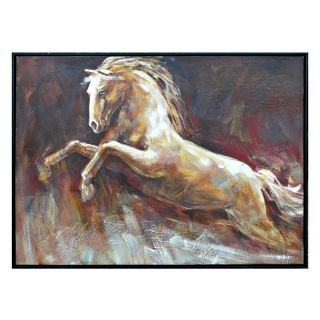 Crestview Collection Framed Horse Painting Wall Art   38.5W x 28.5H in.