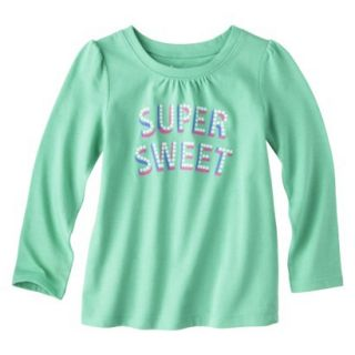 Circo Infant Toddler Girls Long sleeve Tee   Turquoise 2T