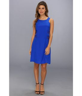 Amanda Uprichard Mesh Sheath Dress Womens Dress (Navy)
