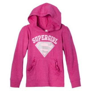 Supergirl Infant Toddler Girls Long Sleeve Hooded Tee   Pink 5T