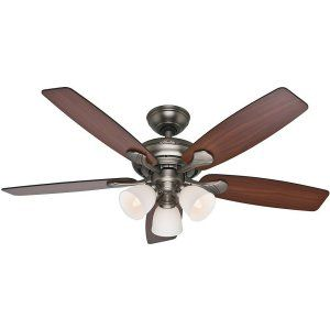 Hunter HUF 53052 Conway Large Room Ceiling Fan with light