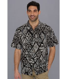 Quiksilver Waterman Moorea S/S Shirt Mens Short Sleeve Button Up (Black)