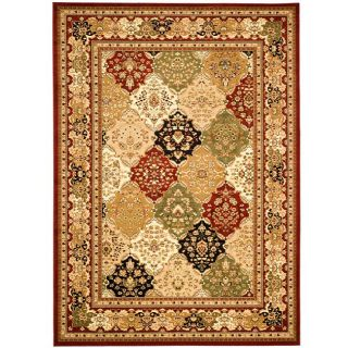 Lyndhurst Collection Multicolor/ Red Rug (53 X 76)