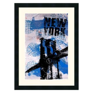 J and S Framing LLC NYC (Blue) Framed Wall Art   18.5W x 25H in.   DSW140304