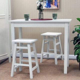 Carolina Chair and Table Co Tavern 3 Piece White Pub Table Set   with Tavern