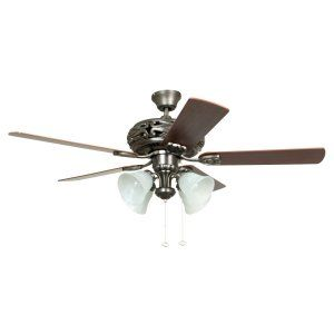 Ellington Fans ELF E GD52AN5C Grandeur 52 Ceiling Fan w/ 4 Alabaster Lights lig