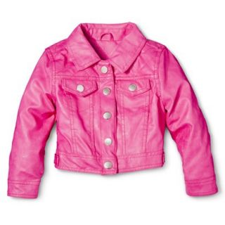 Dollhouse Infant Toddler Girls Faux Leather Jacket   Pink 24 M