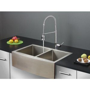 Ruvati RVC2446 Combo Stainless Steel Kitchen Sink and Chrome Faucet Set