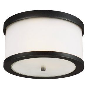Sea Gull Lighting SEA 7822402BLE 12 Bucktown Two Light Outdoor Ceiling Flush Mou
