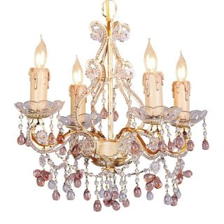Crystorama Paris Flea Market Mini Chandelier   14W in. Champagne Multicolor