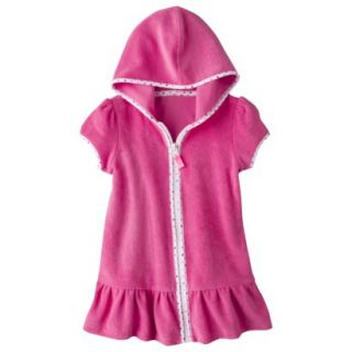Circo Infant Toddler Girls Hooded Cover Up Dress   Pink 4T