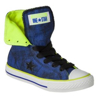 Boys Converse One Star High Top Sneaker   Navy 4