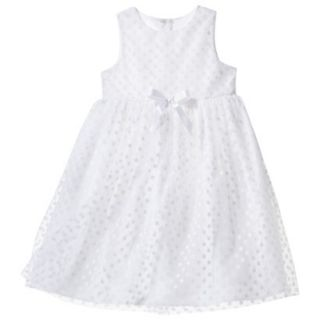 TEVOLIO Infant Toddler Girls Empire Dress   White 12 M