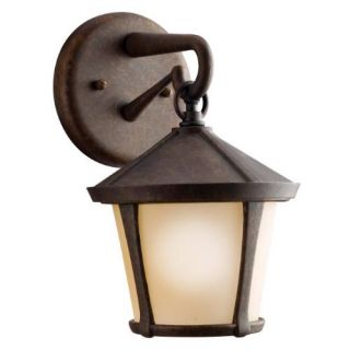Kichler 9051AGZ Outdoor Light, Transitional Wall Mount 1 Light Fixture Aged Bronze