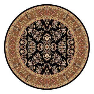 Lyndhurst Collection Black/ Tan Rug (5 3 Round) (BlackPattern OrientalMeasures 0.375 inch thickTip We recommend the use of a non skid pad to keep the rug in place on smooth surfaces.All rug sizes are approximate. Due to the difference of monitor colors,