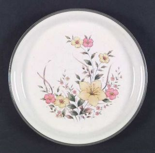 Royal Prestige Field Song Dinner Plate, Fine China Dinnerware   Yellow&Pink Flor