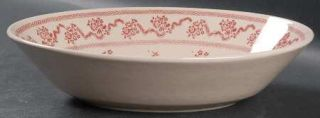 Johnson Brothers Petite Fleur Burgundy/Pink 9 Oval Vegetable Bowl, Fine China D
