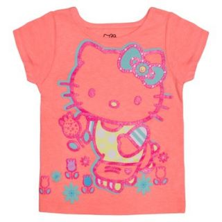 Hello Kitty Infant Toddler Girls Short Sleeve Tee   Apricot Orange 2T