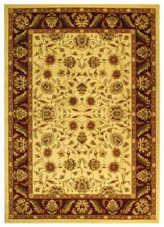 Lyndhurst Collection Tabriz Ivory/red Rug (8 X 11) (IvoryPattern OrientalMeasures 0.375 inch thickTip We recommend the use of a non skid pad to keep the rug in place on smooth surfaces.All rug sizes are approximate. Due to the difference of monitor colo