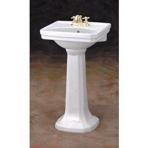 Cheviot 511 20 WH 1 Mayfair Pedestal Sink with Single Hole Faucet Drilling