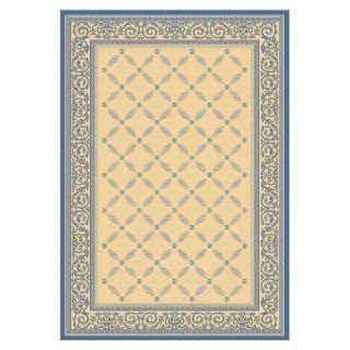 Safavieh Courtyard 1502 Indoor/Outdoor Area Rug   Blue   CY1502 3101 4, 4 x 5.7