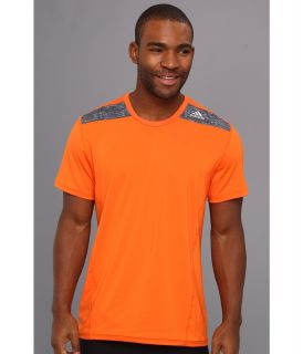 adidas TECHFIT Fitted Short Sleeve Tee Mens T Shirt (Orange)