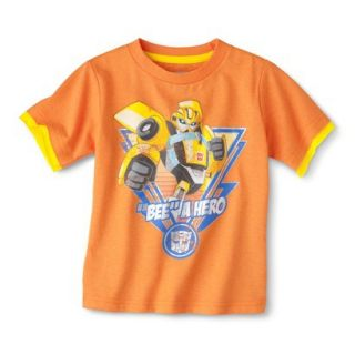 Transformers Bumblebee Infant Toddler Boys Short Sleeve Tee   Orange 12 M