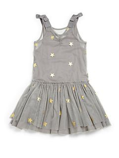 Stella McCartney Kids Toddlers & Little Girls Tulle Star Dress   Grey