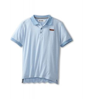 Ben Sherman Kids Barry Polo Boys Short Sleeve Knit (Blue)