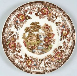 Royal Staffordshire Tonquin Brown/Multicolor (Cream) Bread & Butter Plate, Fine