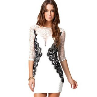 Womens Transparent Slim Mini Dress