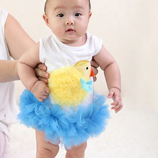 Doomagic Kids Cute Duck Style Baby Romper(Blue)