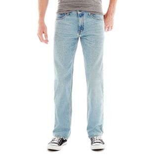 ARIZONA Original Straight Light Wash Jeans, Light Sandy, Mens