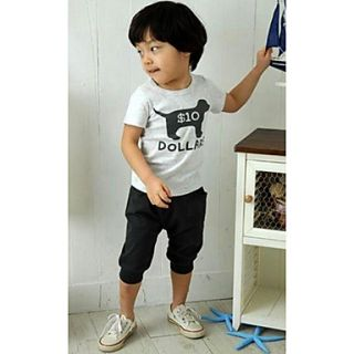 Boys Lovely Animal Print Short Sleeve Clothing Sets