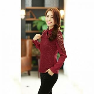 JFS Korea Sytle Womens Lace Long Sleeve Shirt