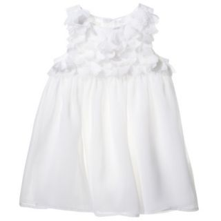 Cherokee Infant Toddler Girls Sleeveless Dress   White 2T