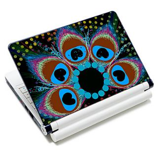 Flower Shape Feather Pattern Laptop Notebook Cover Protective Skin Sticker For 10/15 Laptop 18387