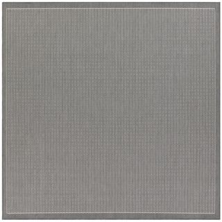 Recife Saddle Stitch Grey Rug (76 Square)