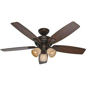 Hunter HUF 53051 Conway Large Room Ceiling Fan with light