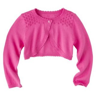 Infant Toddler Girls Long Sleeve Cardigan   Pink 5T