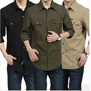 Mens Long Sleeve Casual Cotton Shirts
