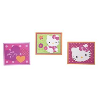 Hello Kitty Garden Wall Decor Set of 3