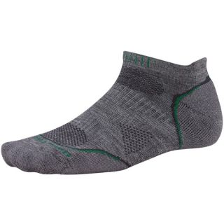 SmartWool PhD Run Light Socks   Merino Wool  Below the Ankle (For Men and Women)   MEDIUM GREY (S )